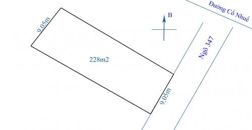 Cần bán nhanh mảnh đất 228m2 tại ngõ 347 đường Cổ Nhuế, Bắc Từ Liêm [ĐÃ BÁN]