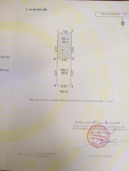 Bán đất ngõ 199/2 đường Hồ Tùng Mậu ô tô con vào nhà đẹp [ĐÃ BÁN]